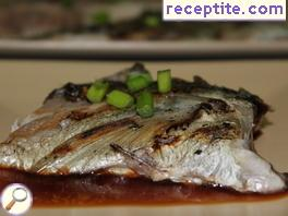 Horse mackerel in BBQ