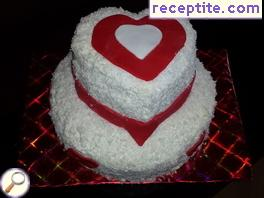 Layered cake St. Valentin - III type
