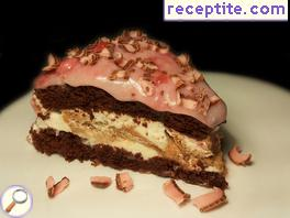 Layered cake Choco-Cheese