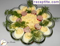 Ladino eggs with remoulade