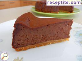Chocolate baked cheesecake