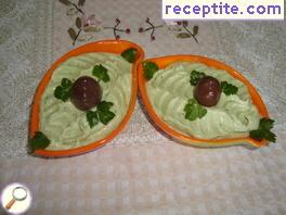 Avocado Dip with blue cheese