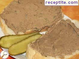 Home-made pate of chicken liver