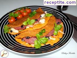 Red pancakes Chickpea