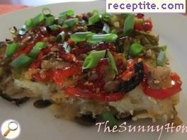 Potato baked with vegetables and mix of seeds