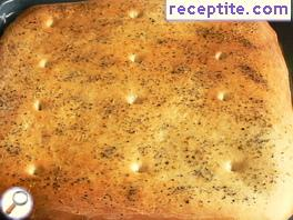 Focaccia with rosemary and black salt