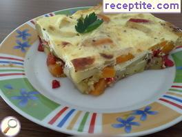 Vegetarian moussaka - II type