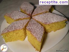 Lemon sponge cake with cream cheese