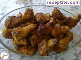 Spicy chicken wings in the oven (Buffalo wings)