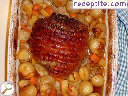 Winter pork with vegetables