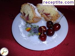 Easy sponge cake with cherries
