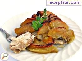 Chicken with thyme and apples