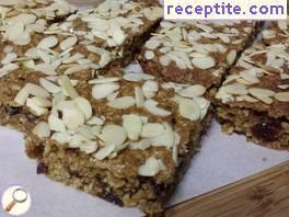 Healthy bar with einkorn flour