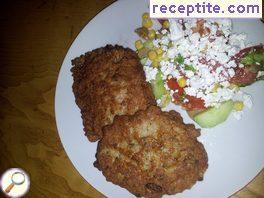 Schnitzel with minced meat