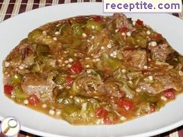 Veal with okra