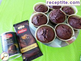 Muffins with dark chocolate and coconut