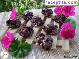 Chocolate cornflakes clusters