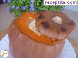 Pumpkin stuffed with caramel cream