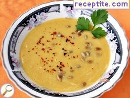 Cream soup of chickpeas