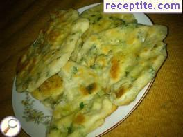 Pitas with butter and cheese