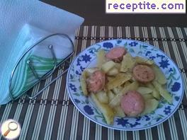 Potatoes with Macedonian sausage