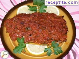 Baked mackerel with tomatoes
