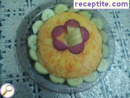 Salad of potatoes and carrots