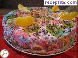 Fruit Tropical layered cake * kiss *