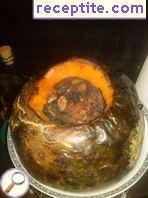 Stuffed pumpkin with dried fruit