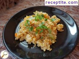 Bulgur for garnish