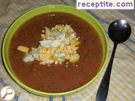 Cold tomato soup vegetarian