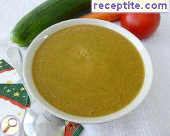 Diet soup Gazpacho type