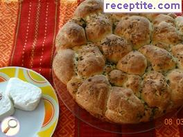 Bread of bubbles with spices and cheese