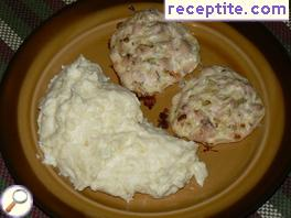 Chicken meatballs in the oven