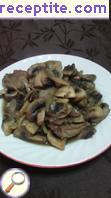 Pork tongue with mushrooms