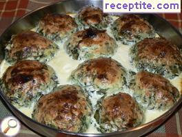 Vegetable meatballs in the oven