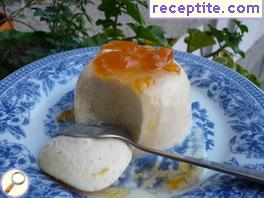 Panna cotta with honey
