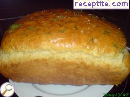 Bread with dill in home baking