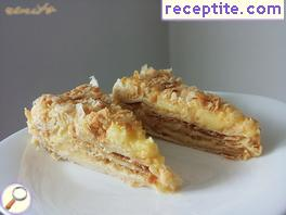 Layered cake with Napoleon ready puff pastry
