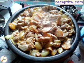 Chicken Grilled Meat with vegetables