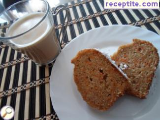Sponge cake with carrots and cinnamon