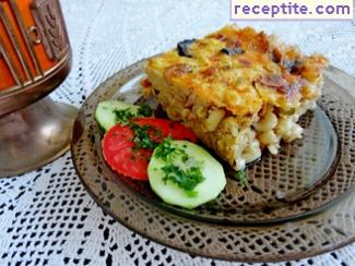 With baked macaroni Autumn