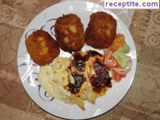 Potato patties with onions and feta cheese - II type
