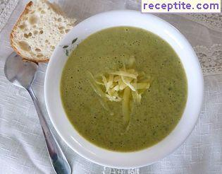 Cream of broccoli soup and cheddar