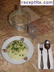 Salad of fresh cabbage with garlic