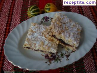 Cake with grated dough