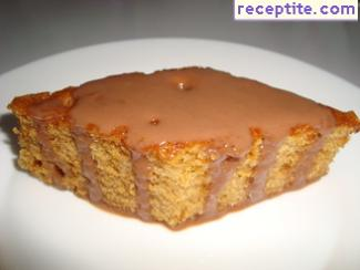 Copper sponge cake with icing