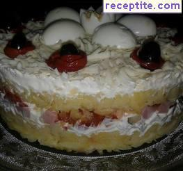 Salad-layered cake - II type
