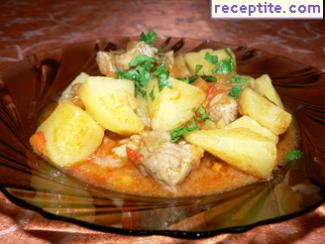 Pork with potatoes country
