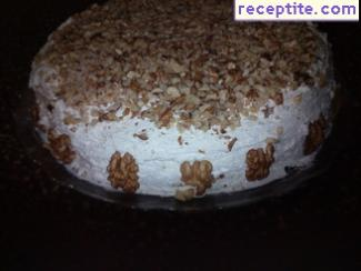 Carrot layered cake with icing